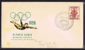 Opening Day Souvenir Cover  Stadium  Cancel - Verano 1956: Melbourne