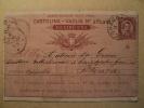 ITALY 1891 INT.1LIRE STATIONERY MO LEGNAGO TO POTENZA VERY NICE LOT A314 - 1878-00 Umberto I