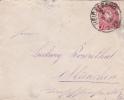 Lettre ALLEMAGNE,EMPIRE,numéro 38,timbre10 PFENNIG,DEUTSCHLAND,GERMA NY 1888,famille ROSENTHAL MUNICH,MUNCHEN,HEIDELBERG - Allemagne