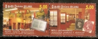 Sri Lanka 2010 National Postal Museum & Philatelic Exhibition Centre Letter Box Stamp On Stamp Se-tentant MNH # 3187 - Philatelic Exhibitions