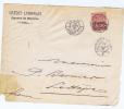 Levant France: Face De La Lettre Smyrne ->  France 1891 , Maury Nr 5 - Levant (1885-1946)