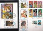 4 ENVELOPPES MORONI COMORES  ANNEE DE L´ ENFANT CHILD KIND IYC 1979 FDC FOOT SPORT ESPACE COSMOS+ + + - Comoros