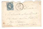 Lettre De MOISSEY,Jura Du 14 MAI 1869 +GC 2379 S/ Empire Lauré N° 29,INDICE 7 >Hotel Des Trois Faisans,Chalons S Saone - 1863-1870 Napoléon III Lauré