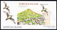 Norfolk Island Scott #682 FDC Souvenir Sheet $4.50 Providence Petrel - Ile Norfolk