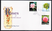 Norfolk Island Scott #683-685 FDC Set Of 3 Roses - Ile Norfolk