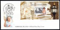 Norfolk Island Scott #692 FDC Souvenir Sheet $3 The Queen Mother´s Century - Ile Norfolk