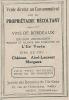 """Pub De 1922 """" Proprietaire Récoltant Chateau Abel-Laurent MARGAUX """" - Werbung"""