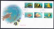 Norfolk Island Scott #646-657 FDC Set Of 12 Reef Fish - Ile Norfolk