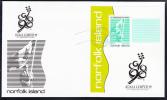 Norfolk Island Scott #662 FDC Souvenir Sheet 85c 16th Commonwealth Games - Flag Bearer - Ile Norfolk