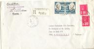 Thiberville Eure 27 - Lettre Recommandée 1976 Avec étiquette De Recommandation - Marcofilie (Brieven)
