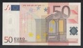 EURO - SPAGNA - 2002 - BANCONOTA DA 50 EURO SERIE V (M038C4)- NON CIRCOLATA (FDS-UNC) - OTTIME CONDIZIONI. - EURO