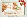 Brundage Embossed Happy New Year Child Boy Father Time - Altre Illustrazioni
