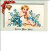 Frances Brundage Embossed Happy New Year Child Boy - Altre Illustrazioni