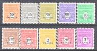 France 523A-J   * - Unused Stamps