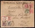 Wurttemberg Lettre Recommandée Pour La Lorraine Occupée De 1894 TB - Wuerttemberg