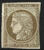 "YT 47 "" Cérès 30c. Brun "" 1870 Neuf Sans Gomme - Cérès"