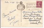 N879 - STRASBOURG PL GARE - 1934 - Flamme VISITEZ LA FOIRE EUROP ...... - Timbre Type SEMEUSE - - Alsace-Lorraine