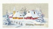 Mignonnette. Gelukkig Nieuwjaar. Village Et église Dans La Neige. 6,5/12,5 Cm - Nouvel An