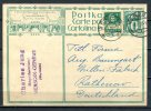 """Schweiz 1928 Bildganzsache 10 Rappen """" 1. Schweizer Ausst. Frauenarbeit """" Versoix-Rathenow,Germany  """"1 GS Used,bef. - Interi Postali"""