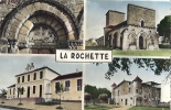 CPSM La Rochette Rochefoucauld Charente 16 Eglise Mairie Château - Sonstige Gemeinden