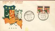 ORAN  Premier Jour Du 15 Octobre 1960  FDC Armoiries D' Oran N° 350 - Algérie (1924-1962)