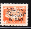 Bolivia 1950 !st Anniversary Ending Of Civil War Surcharged MNH - Bolivie