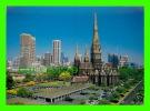 MELBOURNE, AUSTRALIE - CITY SKYLINE & ST. PATRICK'S CATHOLIC CATHEDRAL - NU-COLOR-VUE - - Melbourne