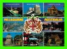 MELBOURNE, AUSTRALIE - THE CITY & ITS COAT OF ARMS - 9 MULTIVIEW - NU-COLOR-VUE - - Melbourne