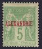 ALEXANDRIE: Le RARE 5c Au Type II Neuf * TB (Dallay #5, Cote 194€)