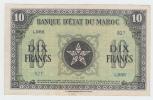 Morocco 10 Francs 1944 VF++ CRISP P 25 - Morocco