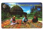 TONGA  - C & W (GPT) -  1994 PAINTING OF TAPA CLOTH    CODE 1CTGA (TIR.5000)    - USED  -  RIF. 882 - Tonga