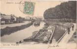 CPA 08 ATTIGNY Le Port Du Canal Péniches Batellerie 1903 - Attigny