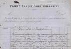 1487 -  FACTURE   DE 1875  AUDE ROQUEFORT DES CORBIERES  -  BILLS BOLLETTE RECHNUN -  COMMISSIONNAIRE - Autres