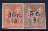 30c Et 40c Sage Surchargés Neufs * TB (Dallay # 8 Et 9, Cote 55€)
