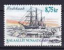 """Greenland 2003 Mi. 409     8.75 Kr Grönländische Schiffahrt Schraubenbarkentine """"Godthaab"""" (1898) - Usati"""