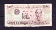 Coupure De 2 000 Dongs - Vietnam - Usagé - 2 Scans - Vietnam