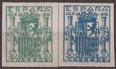 ESNE56-L4125TV.España Spain Espagne. ESCUDO DE ESPAÑA.Granada 1936. (Ed NE 56/7**).sin Charnela.Magnifico - Variedades & Curiosidades