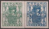 ESNE56-L4125TES.España Spain Espagne. ESCUDO DE ESPAÑA.1936. (Ed NE 56/7**).sin Charnela.Magnifico - Sellos