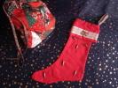 Christmas Boot; Botte De Noël.Rose/vieil Or Confection Pièce Unique, Ruban, Perles 5 Photos. - Altri