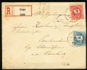 1896 Hungary Registered Cover. Csege 96.Mar.21.   (G13c184) - Entiers Postaux