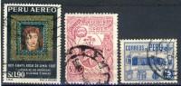 3  Nice Old Stamp From Peru, Used - Peru