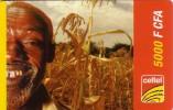NIGER PREPAYEE PREPAID CARD CELTEL 5000 CFA  VIEUX OLD MAN CORN MAIZE SORGHO MIL MILLET
