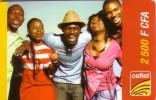 NIGER PREPAYEE PREPAID CARD CELTEL 2500 CFA  FILLE GARCON AFRICAINES AFRICAN GIRL BOYS RAGAZZA