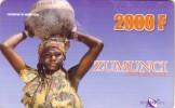 NIGER PREPAYEE PREPAID CARD SONITEL ZUMUNCI 2000 CFA  FILLE CRUCHE EAU GIRL WATER POT PORTATRICE ACQUA - Niger