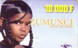 NIGER PREPAYEE PREPAID CARD SONITEL ZUMUNCI 10000 CFA  FILLE PEUL TOUAREG GIRL RAGAZZA PEULH FULA - Niger