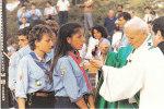 CARTOLINA VISITA S.S. GIOVANNI PAOLO II RADUNO NAZ. SCAUTISMO - Scoutisme