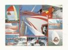 Cp, Voile, Côte D'Or I Et Côte D'Or II - Skipper Eric Tabarly, Sainson 87 - Le Grand Choc, Multi-Vues, Voyagée 1989 - Voile