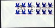 1992877, 28784  G Rate Make-up Stamp  2 Blocks Of 6  Sc - Ersttagsbelege (FDC)