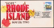 1990  Rhode Island  Hand Painted FDC  Sc 2348 - Ersttagsbelege (FDC)