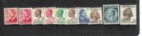 Australia-1950-57 KGVI Def Wtmk  ASC 258-267     MNH - Australia